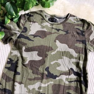 PacSun Distressed Destroyed Camouflage Tee